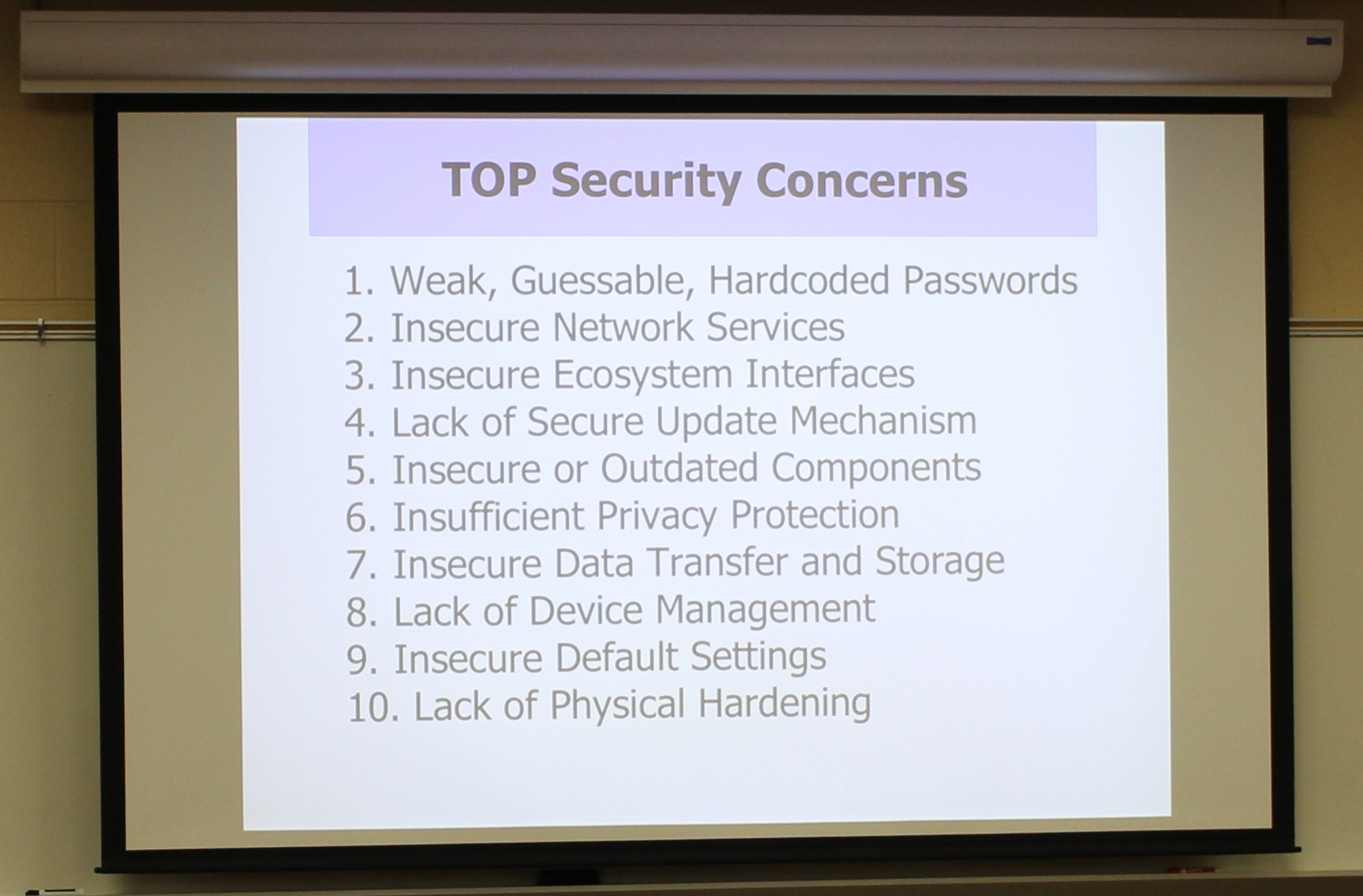 Security Concern Slide